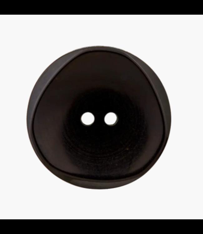Platte knoop - zwart 20mm