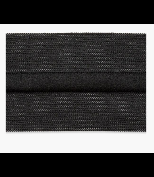 Elastiek met koord 38mm - zwart