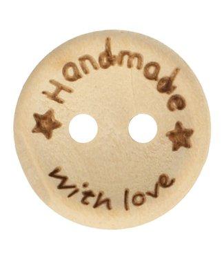 """Houten knoop """"handmade"""" 15 mm"""