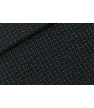 See You At Six SYAS18 Thin grid - Canvas gabardine twill (forest river)