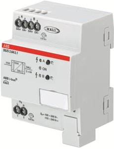 ABB DG/S2.64.5.1 DALI Gateway Colour, KNX 2 voudig, 2x 64 ballasten