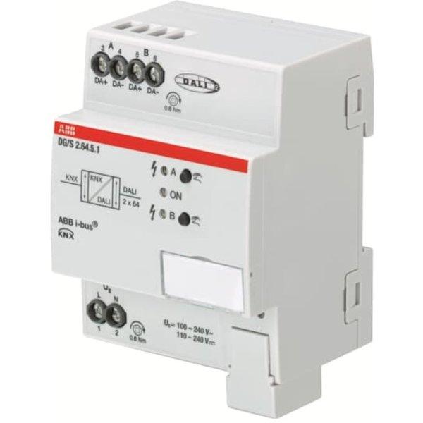 ABB DALI Gateway Colour, KNX 2 voudig, 2x 64 ballasten