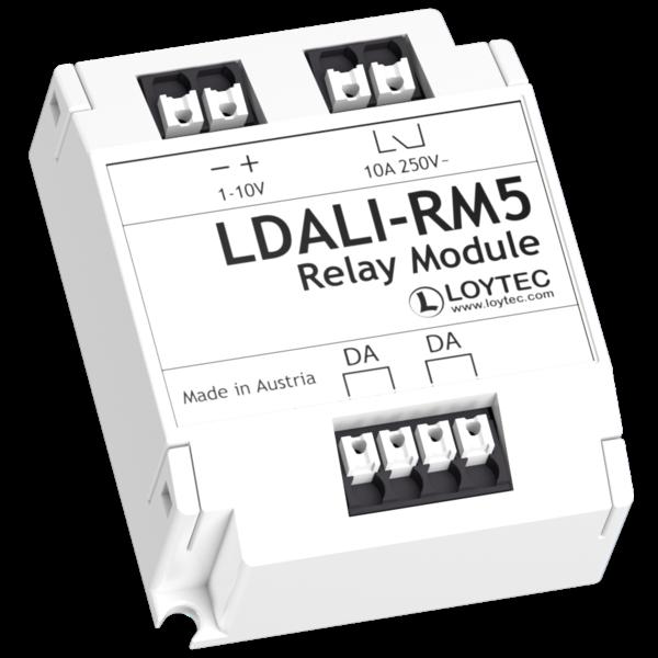Loytec LDALI-RM5 DALI-2 Relaismodule  10A, 1-10V, In/opbouw