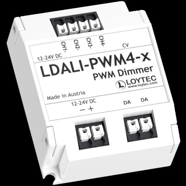 Loytec PWM-module, DALI, 4 x 3 A LED-uitgangen, 24 V DC ext.