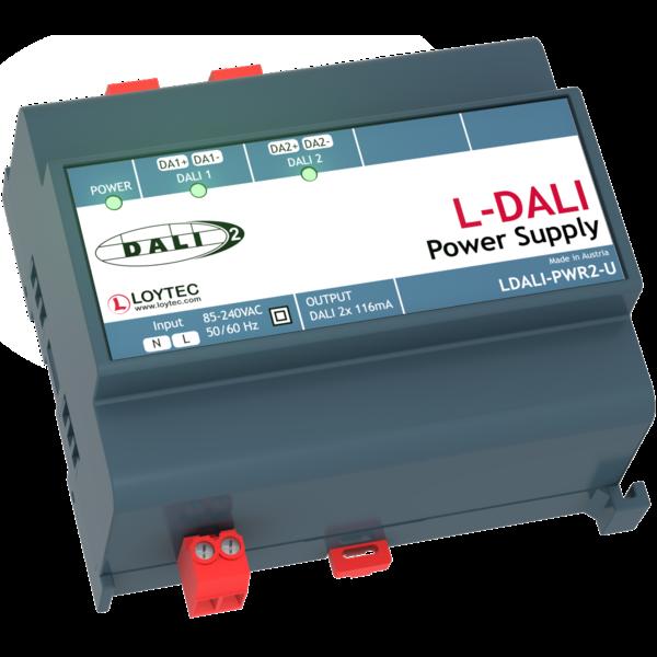 Loytec LDALI-PWR2-U , 85-240 V, 50/60 Hz, 2 x 16 VDC, 116 mA