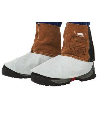 Lava Brown Weldas voetbeschermers voor lassers (10 paar), 44-7106
