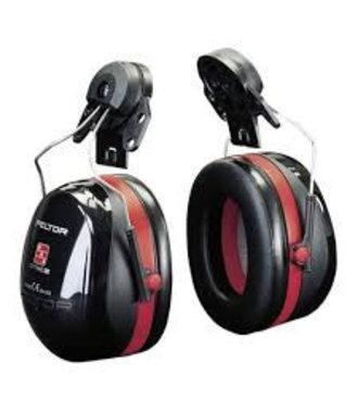 Peltor Optime 3 oorkappen - helm montage