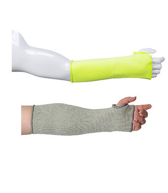 A689 - 14 inch (35cm) Cut Resistant Sleeve - Yellow - R