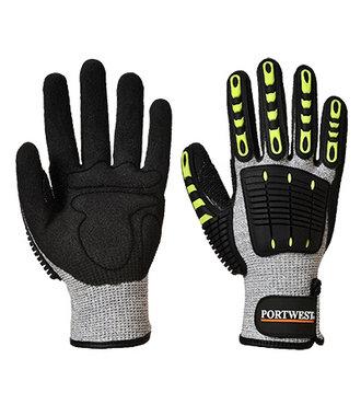 A722 - Anti Impact Cut Resistant 5 Glove - GreyBk - R