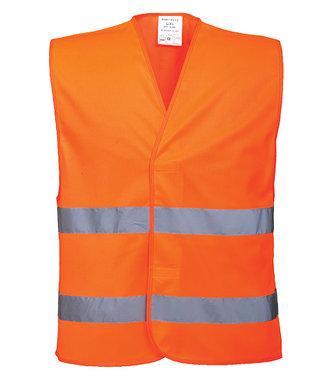 C474 - Hi-Vis Two Band Vest - Orange - R