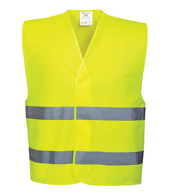 C474 - Hi-Vis Two Band Vest - Yellow - R