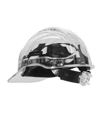 PV60 - Peak View Ratchet Hard Hat Vented - Clear - R