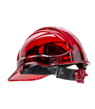 PV60 - Peak View Ratchet Hard Hat Vented - Red - R