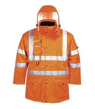 RT27 - Hi-Vis 7-in-1 Traffic Jacket RIS - Orange - R