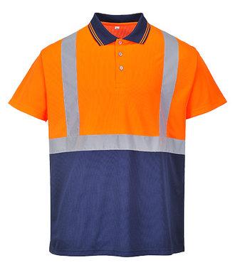 S479 - Zweifarbiges Polo Shirt - OrNa - R