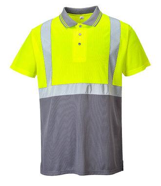 S479 - Zweifarbiges Polo Shirt - YeGrey - Y