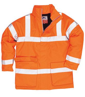 S778 - Bizflame Rain Hi-Vis Antistatic FR Jacket - Orange - R