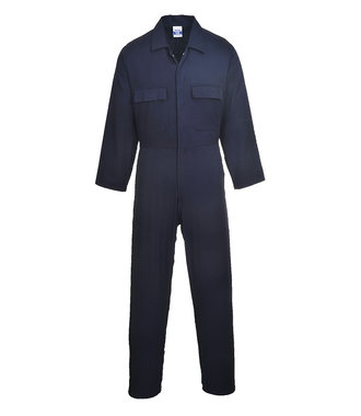 S998 - Euro Work Cotton Coverall - Navy T - T