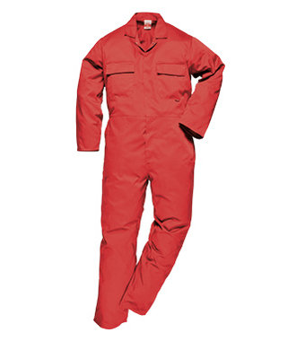 S999 - Euro Work Coverall - Red - R