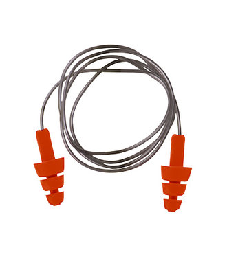 EP04 - Reusable TPE Corded Ear Plug - Orange - R