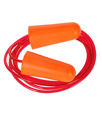 EP08 - Corded PU Foam Ear Plug (200 pairs) - Orange - R