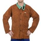 Weldas Welding 44-7300 Lava Brown split cowhide welder jacket