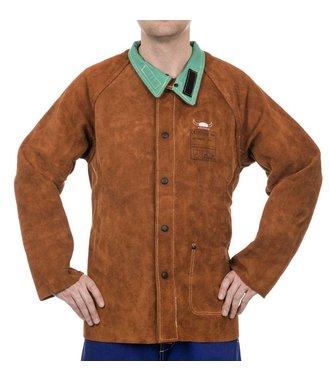 44-7300 Lava Brown split cowhide welder jacket