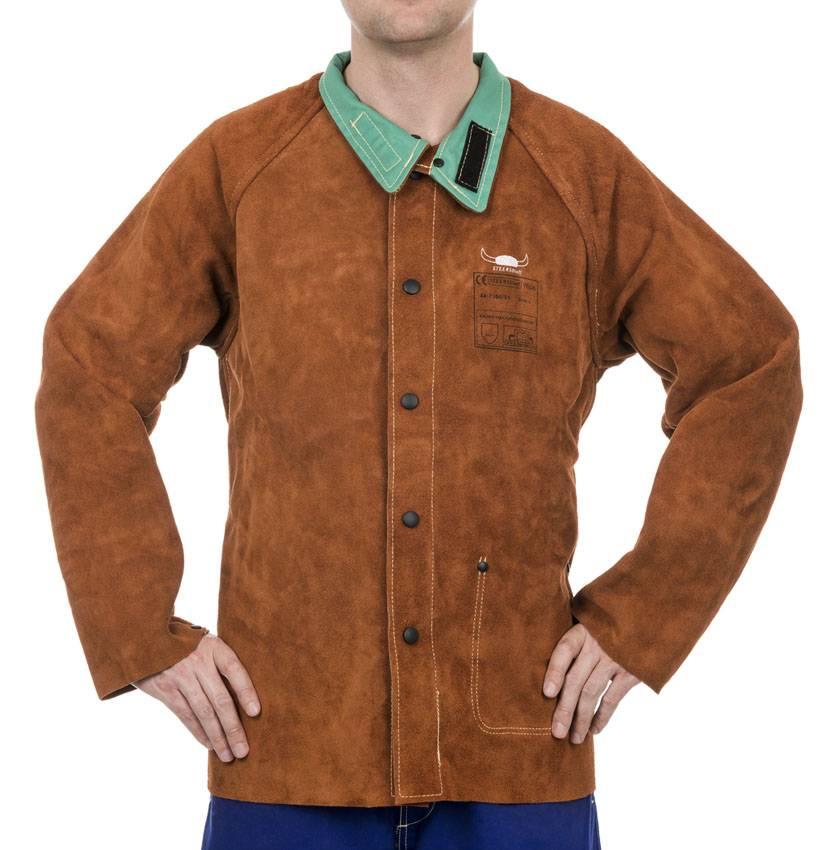 9a6a3f10d 44-7300 Lava Brown split cowhide welder jacket