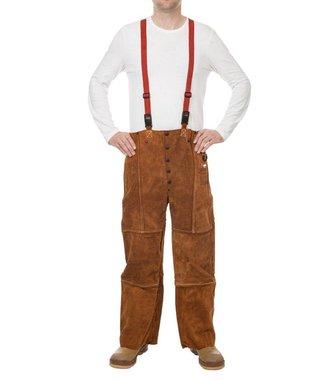 44-7440/7600 Lava Brown split cowhide welder trousers
