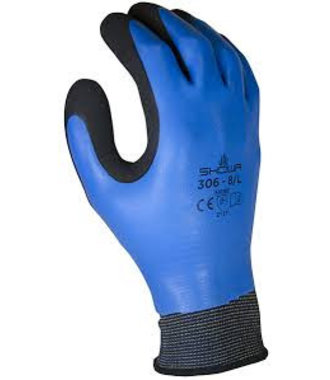 Showa 306 respirants gants en latex imperméable poignée