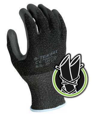 S-TEX 541 Cut resistant glove with PU grip coating