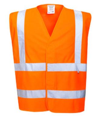 FR71 - Hi-Vis Anti Static Vest - Flame Resistant - Orange - R