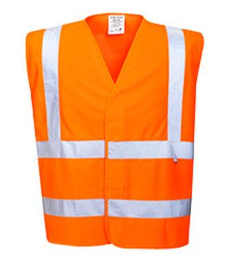 FR75 - Gilet Hivis Résistant à la flamme - Orange - R