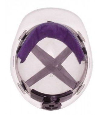 Hyperkewl Forehead Cooler under safety helmet
