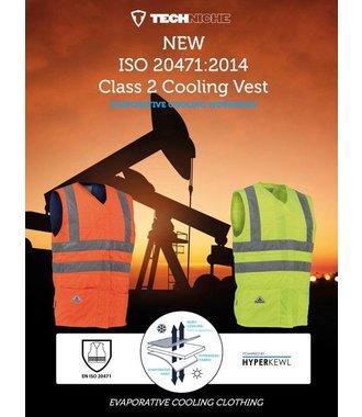 Orange High Vis Cat 2 cooling vest