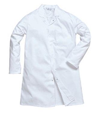 2202 - Men's Food Coat - White - R