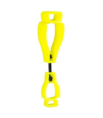 A002 - Metal Free Glove Clip - Yellow - R