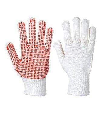 A112 - Heavyweight Polka Dot Glove - WhRed - R