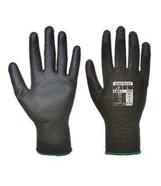 A129 - PU Palm Handschoen (12 pak) - Black - R