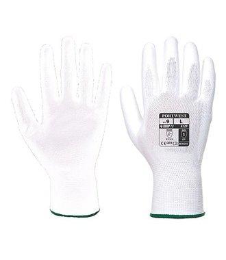 A129 - PU Palm Handschuh (12 Paar) - White - R