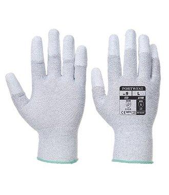 A198 - Antistatic PU Fingertip Glove - Grey - R