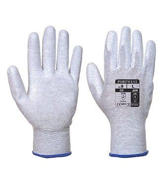 A199 - Antistatic PU Palm Glove - Grey - R