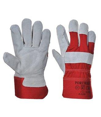 A220 - Premium Chrome Rigger Glove - Red - R