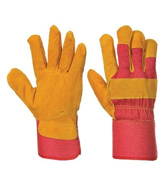 A225 - Fleece Lined Rigger Glove - Red - R