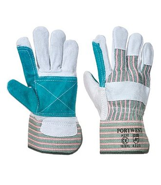 A230 - Double Palm Rigger Glove - GreyGreen - R