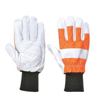 A290 - Oak Chainsaw Protective Glove (Class 0) - Orange - R