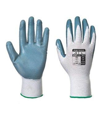 A310 - Flexo Grip Nitrile Glove - GreyWh - W