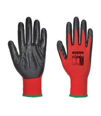 A310 - Flexo Grip Nitrile Glove - RedBk - R