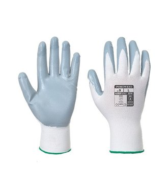 A319 - Flexo Grip Nitrile Glove (with retail bag) - GreyWh - W