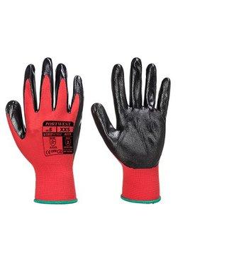 A319 - Flexo Grip Nitrile Glove (with retail bag) - RedBk - R